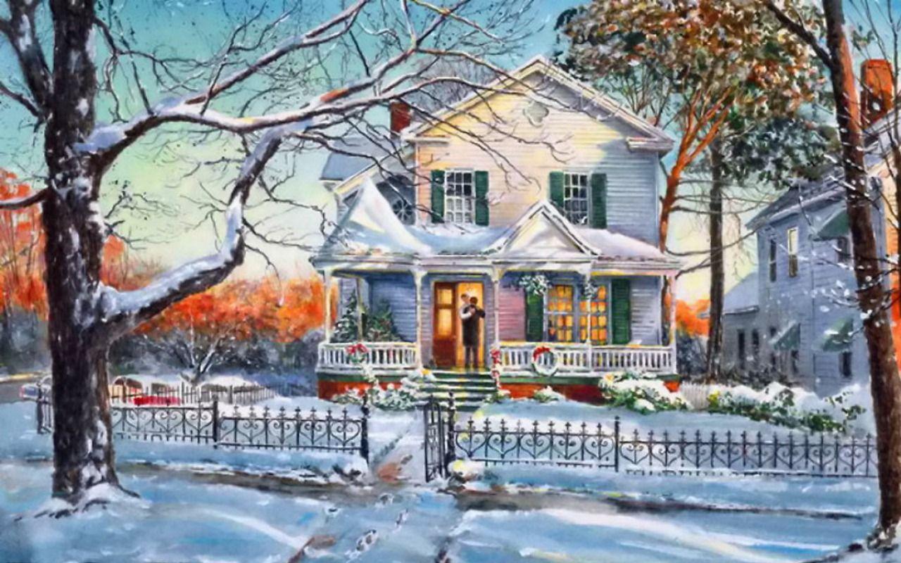 christmas houses desktop wallpapers top free christmas houses rh wallpaperaccess com