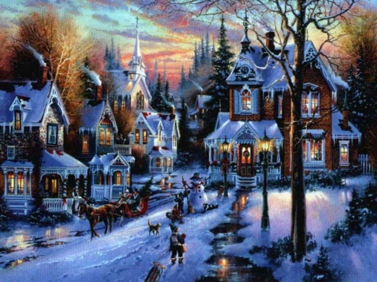 Christmas Houses Desktop Wallpapers Top Free Christmas