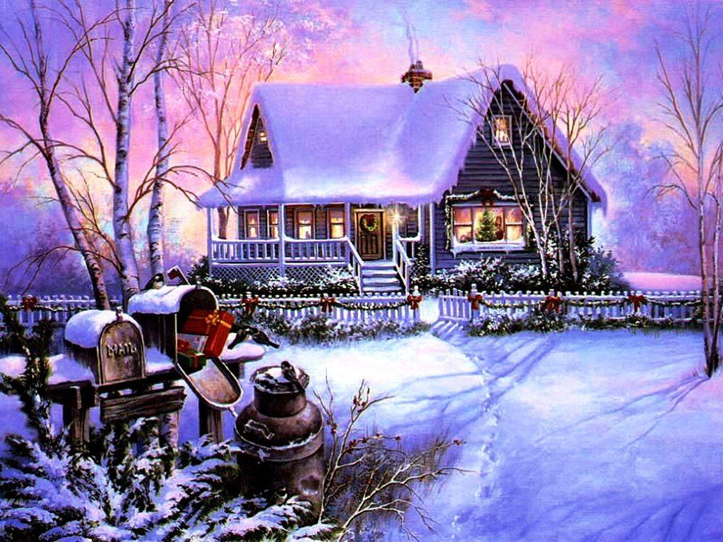 """3000x1684 Winter: House Tree Magic Christmas View Merry Cold Hotel Winter ..."""">"""