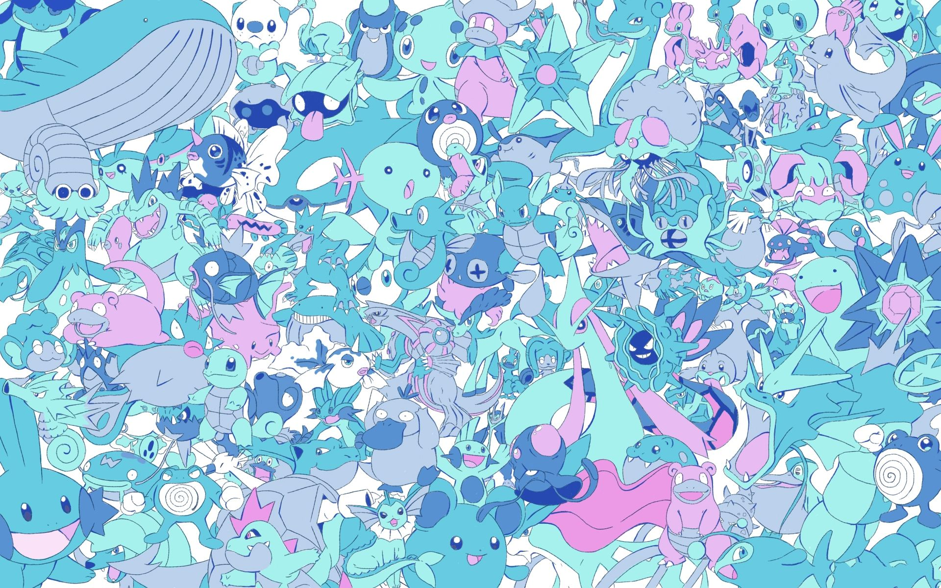 Pokemon Pattern Phone Wallpaper