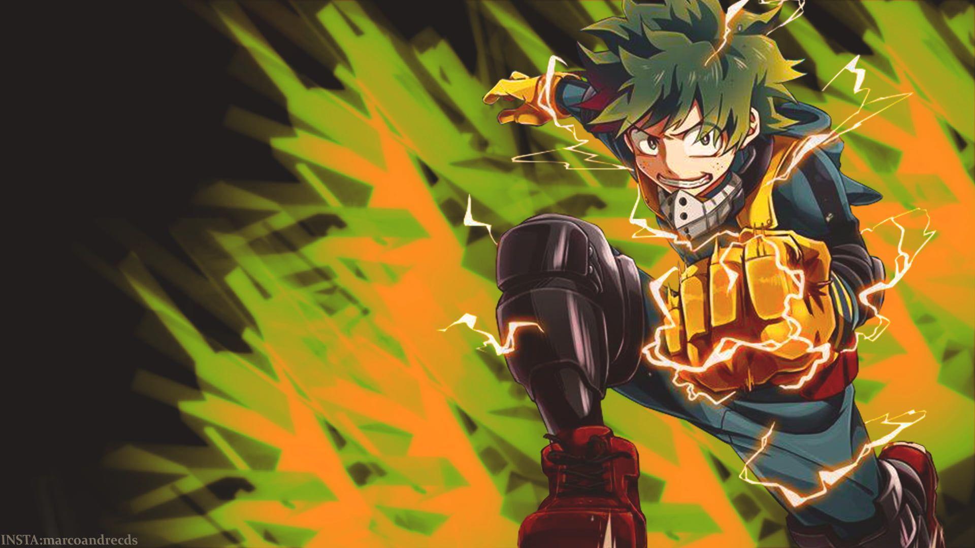 1920x1080 My Hero Academia Deku hình nền, anime, Midoriya Izuku, hành động