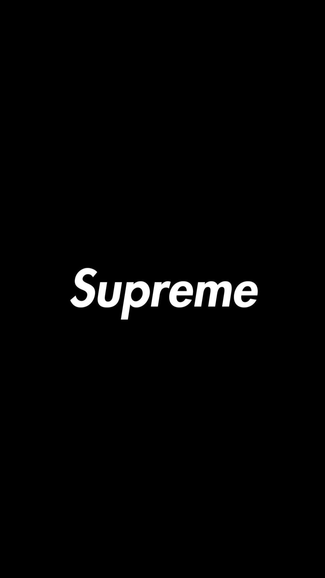 Black Supreme Logo Wallpapers Top Free Black Supreme Logo