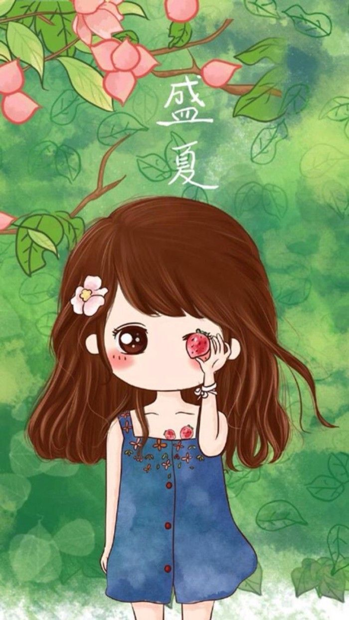 Cute Cartoon Girl Stock Illustration - Download Image Now