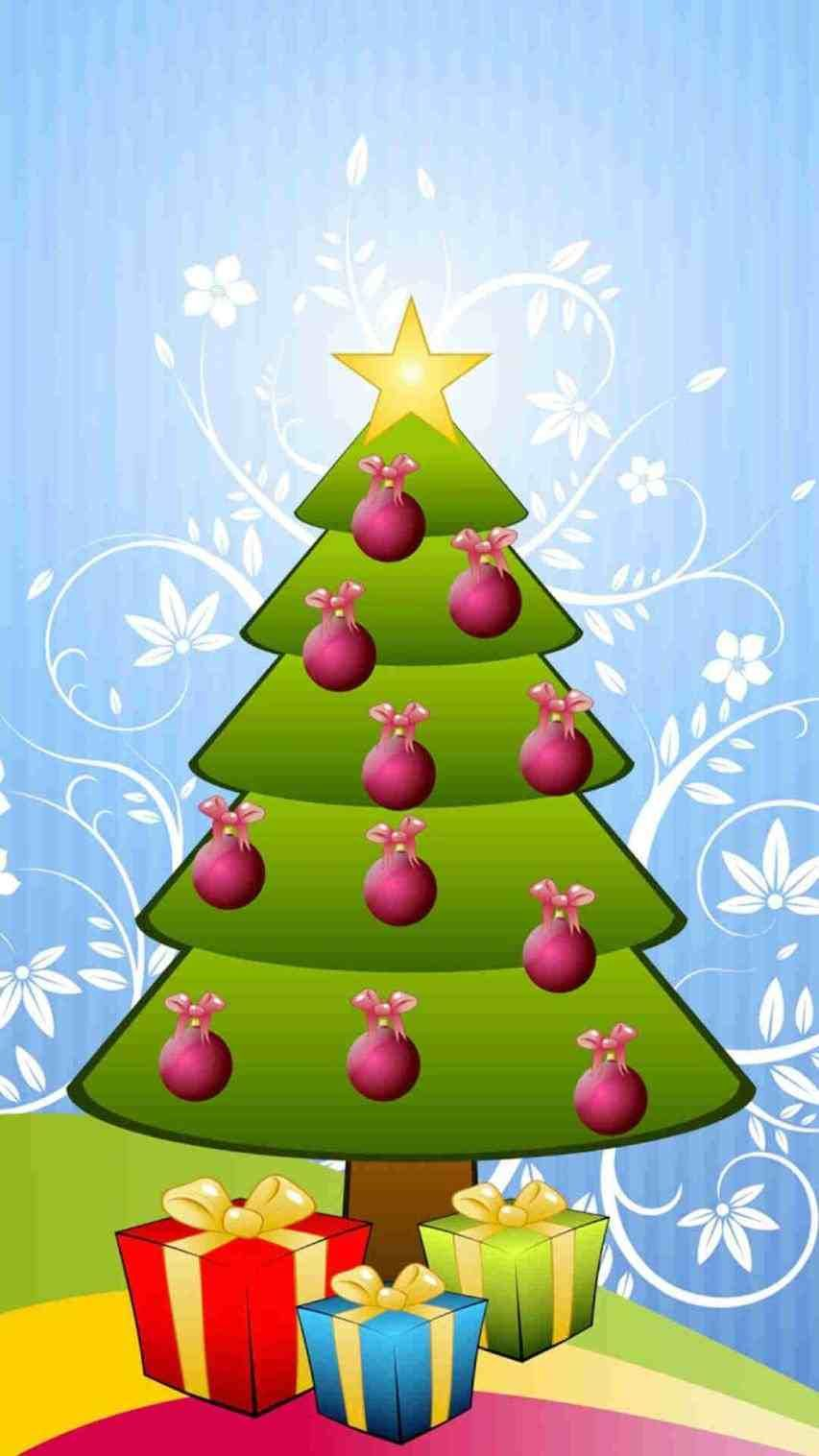Cute Christmas Tree Wallpapers Top Free Cute Christmas Tree Backgrounds Wallpaperaccess