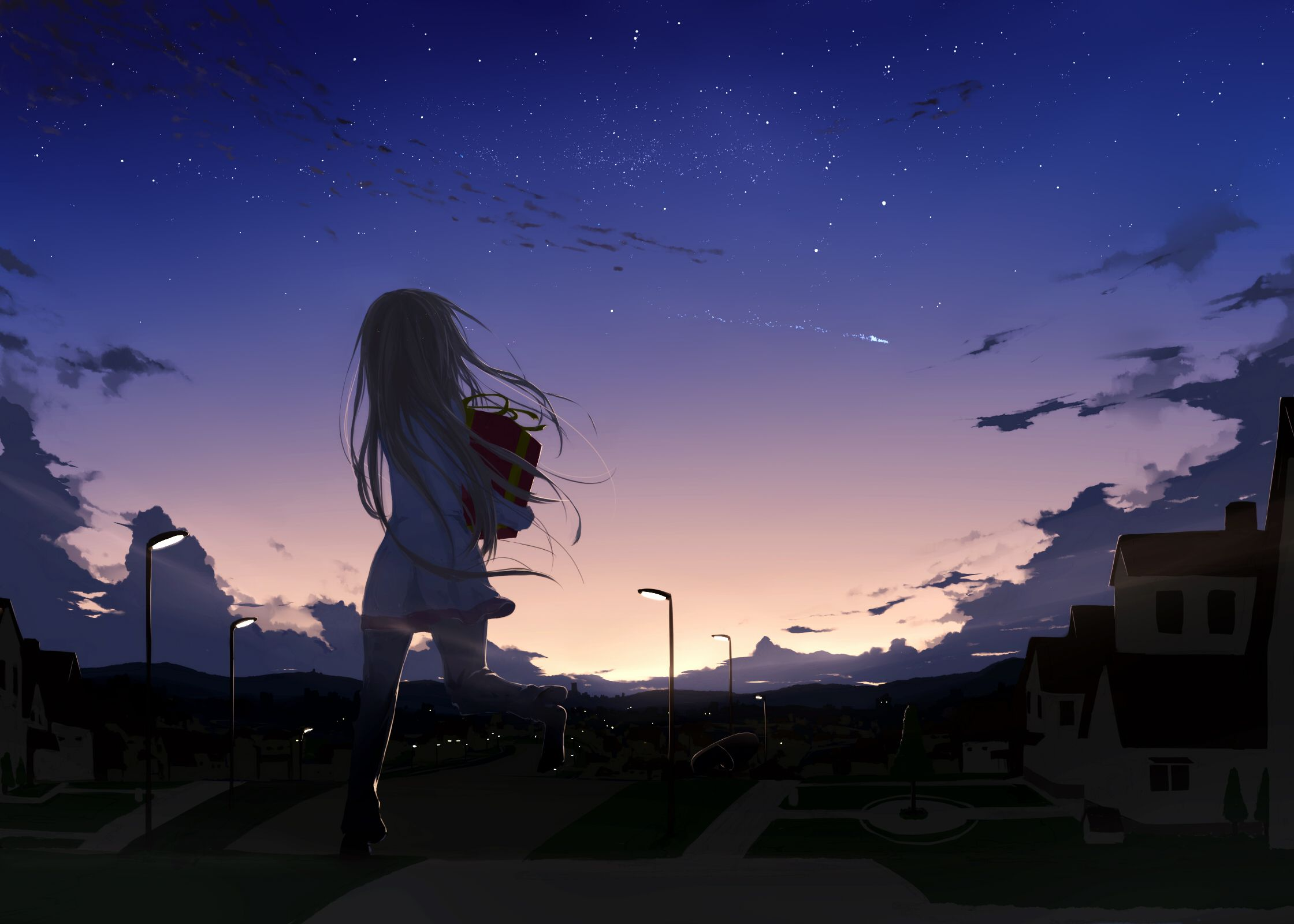 Anime Night Wallpapers Top Free Anime Night Backgrounds Wallpaperaccess