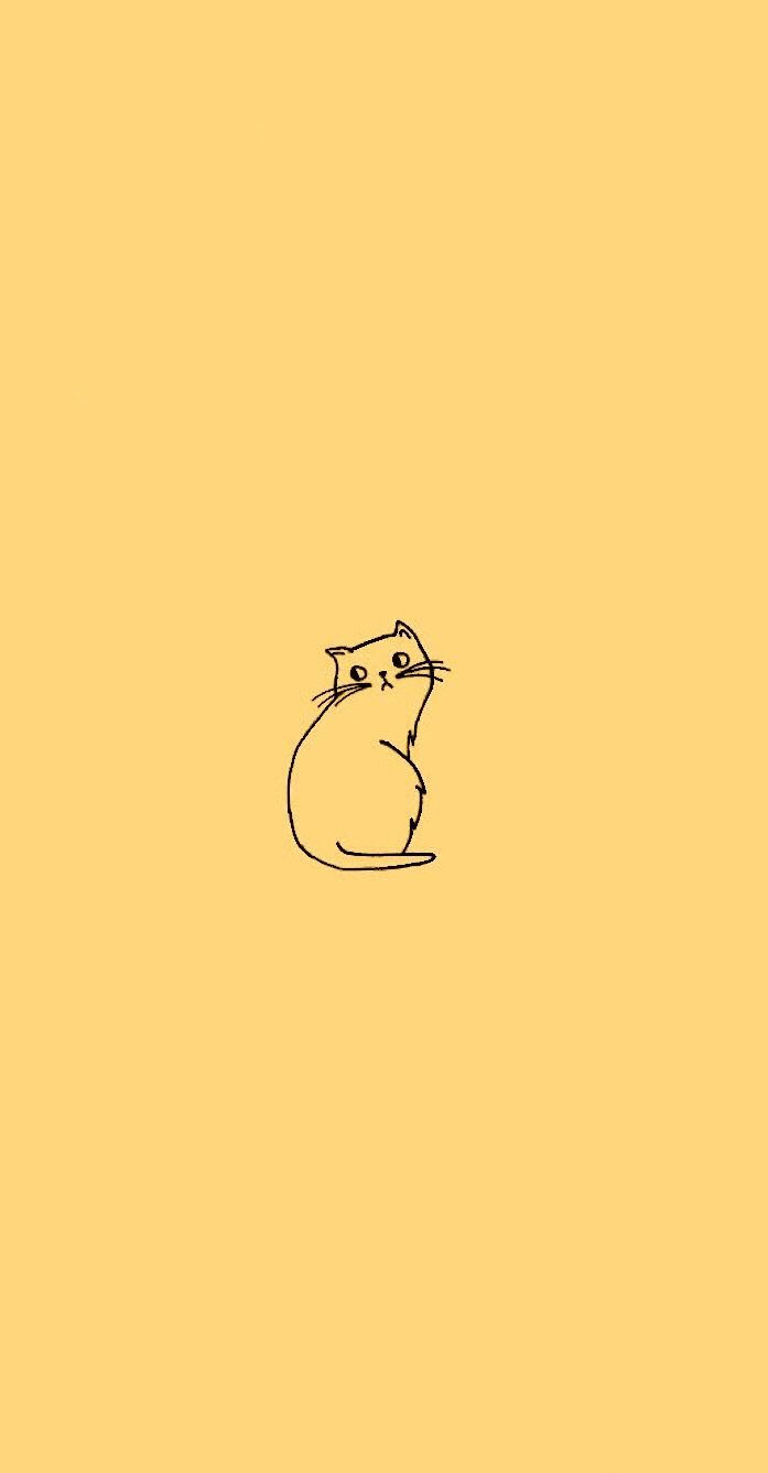 Minimalist Cat Wallpapers Top Free Minimalist Cat Backgrounds Wallpaperaccess