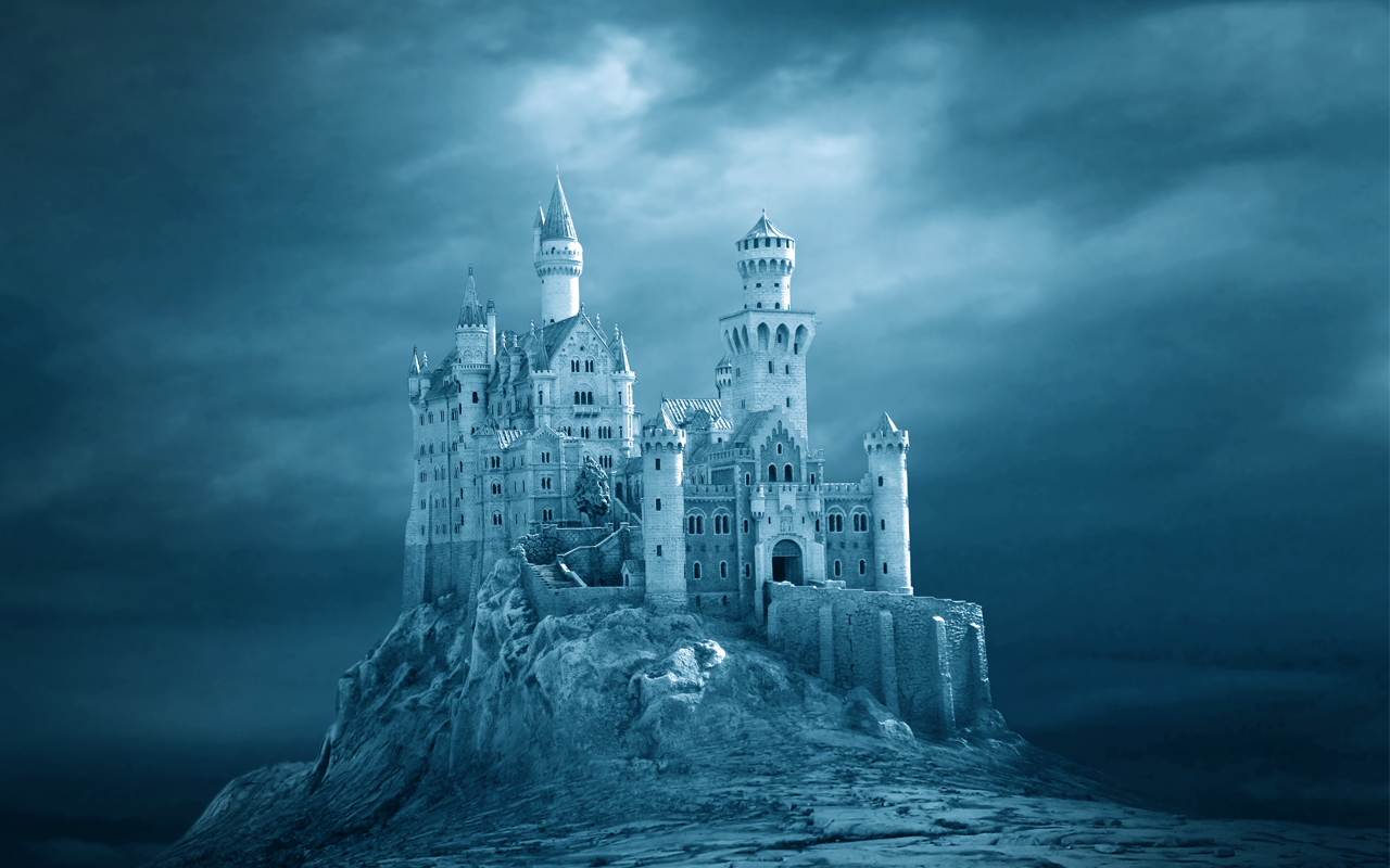 Frost Castle Fantasy Art