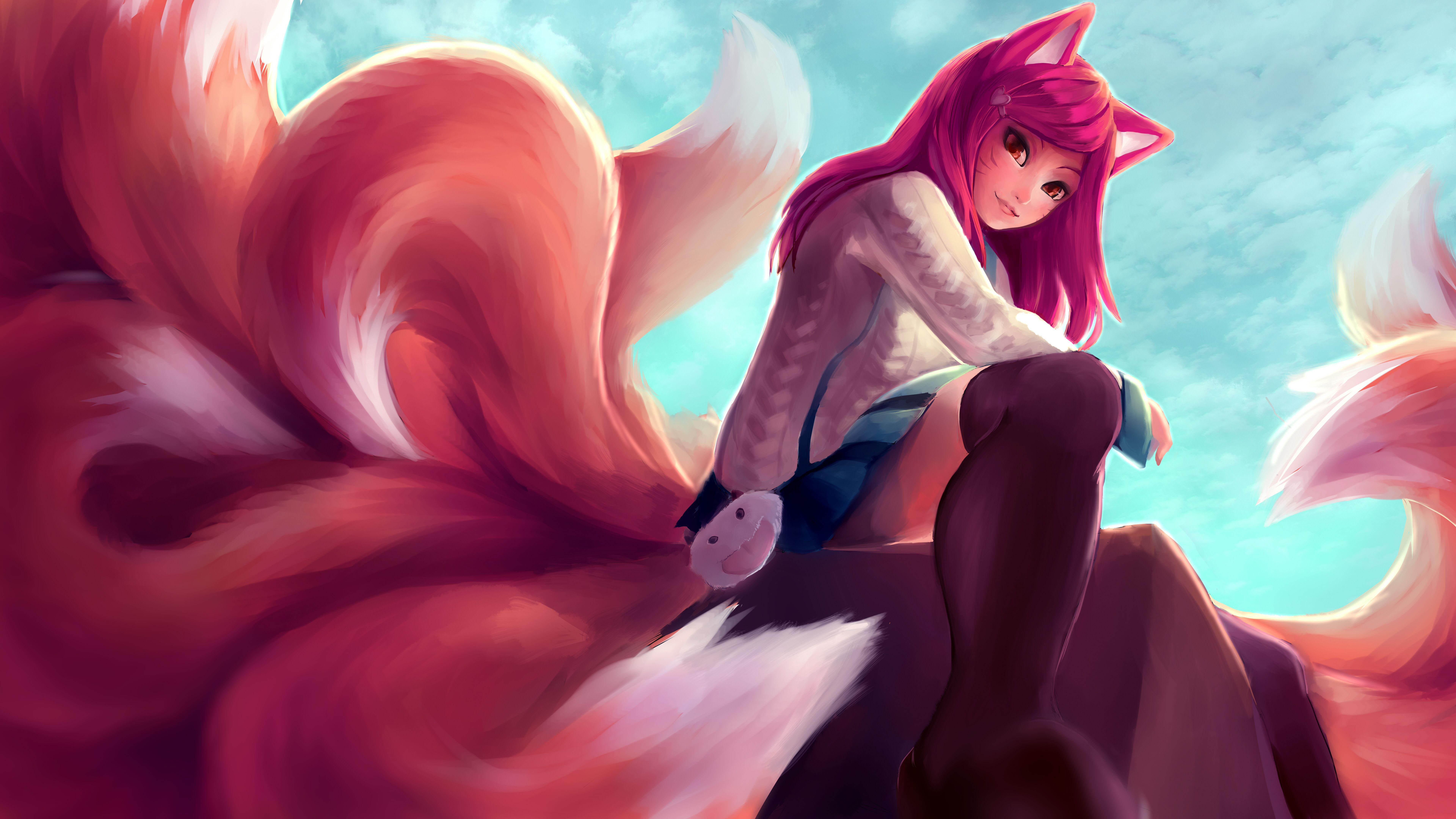 Ahri Anime Wallpapers Top Free Ahri Anime Backgrounds
