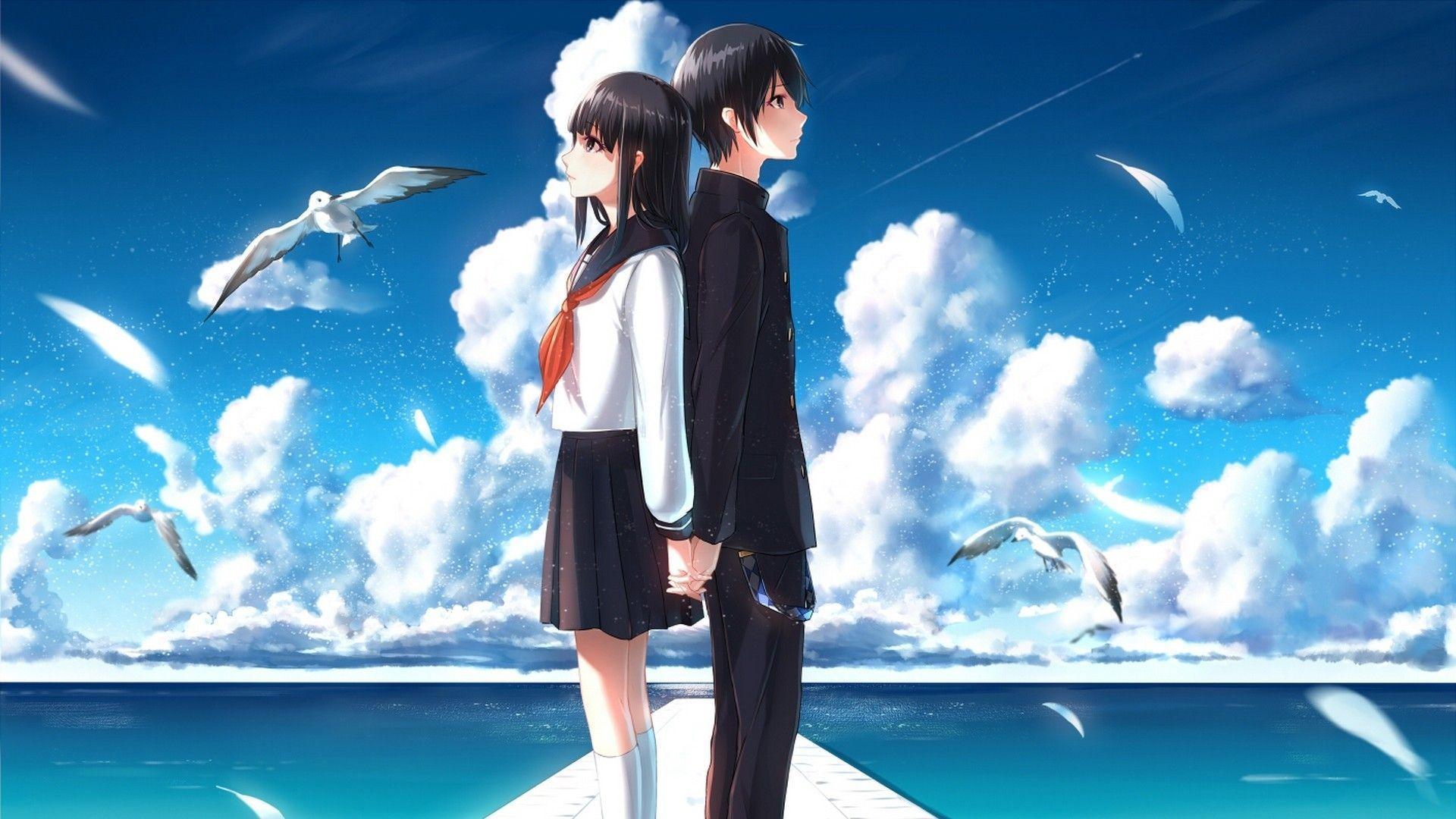 450+ Foto Wallpaper Anime Romantis Terbaru