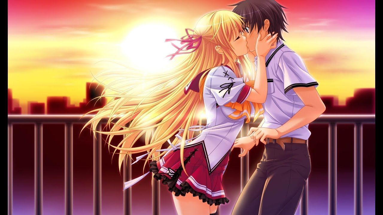Romantic Anime Kiss Wallpapers - Top Free Romantic Anime ...