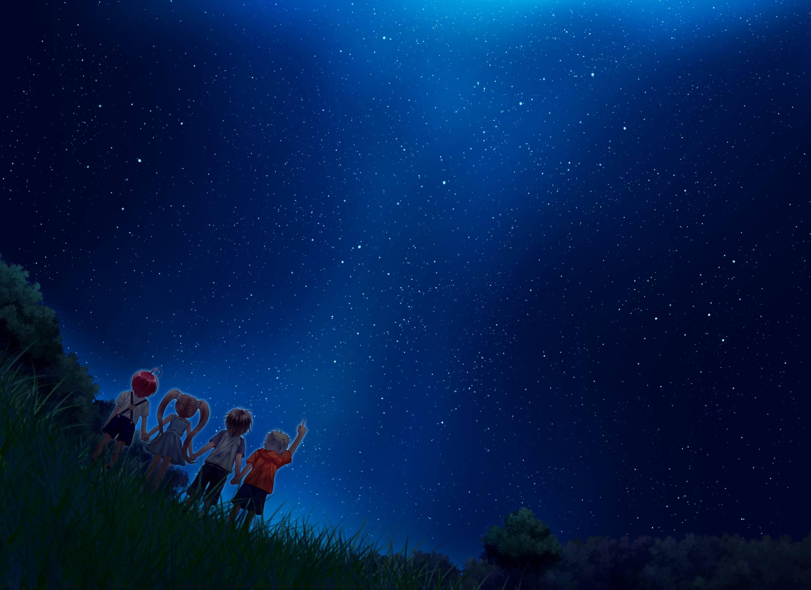 Anime Night Sky Wallpapers Top Free Anime Night Sky Backgrounds