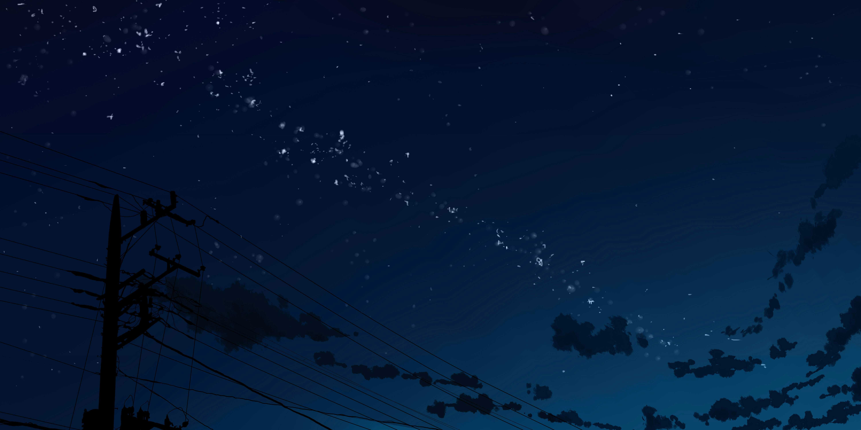 25+ Anime Night Sky Background Hd Gif