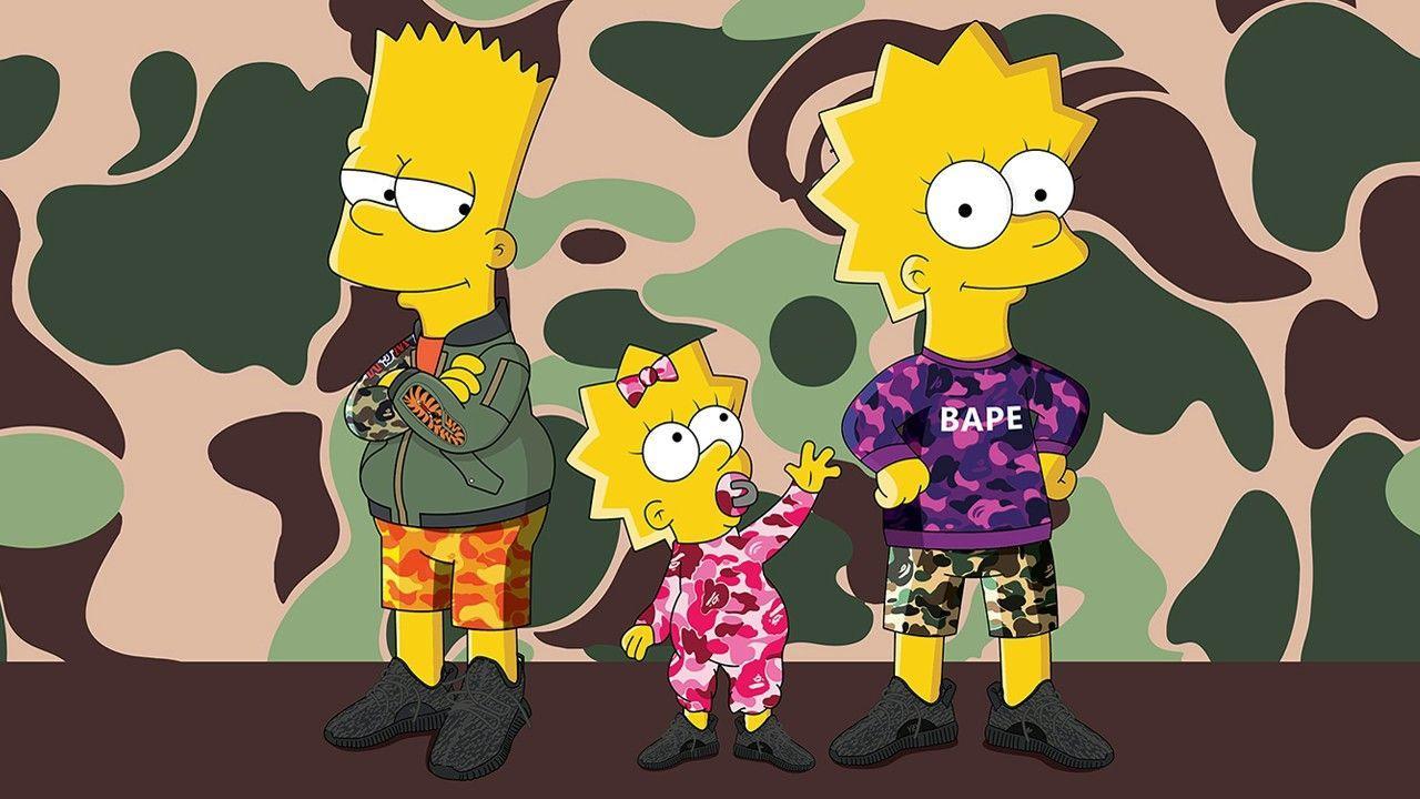 Simpsons BAPE Wallpapers - Top Free Simpsons BAPE ...
