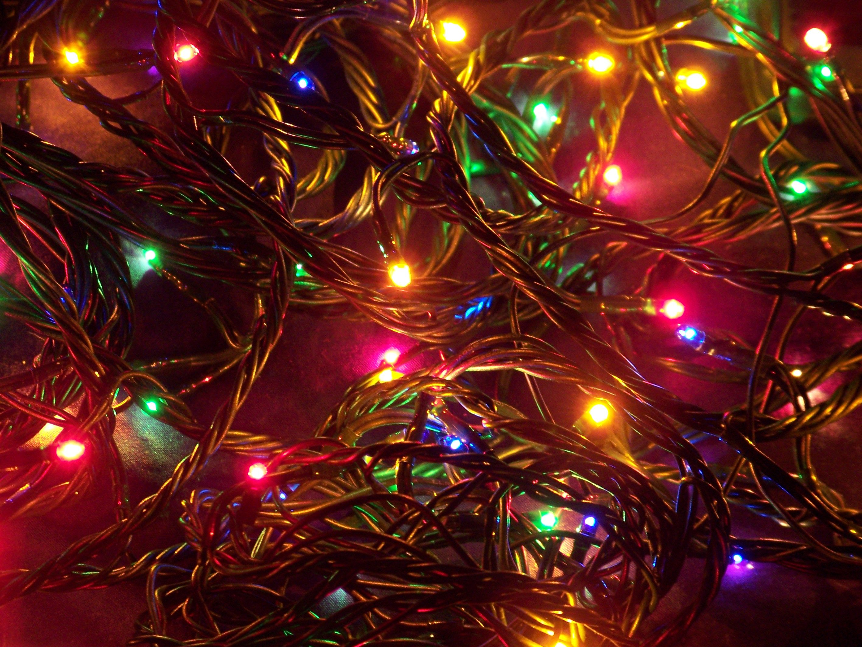 Christmas Lights Desktop Wallpapers Top Free Christmas