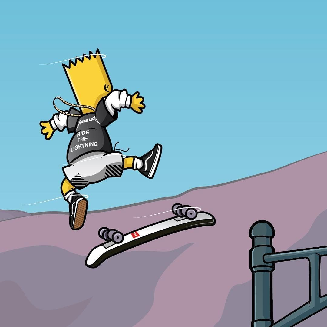 skateboard wallpaper cartoon