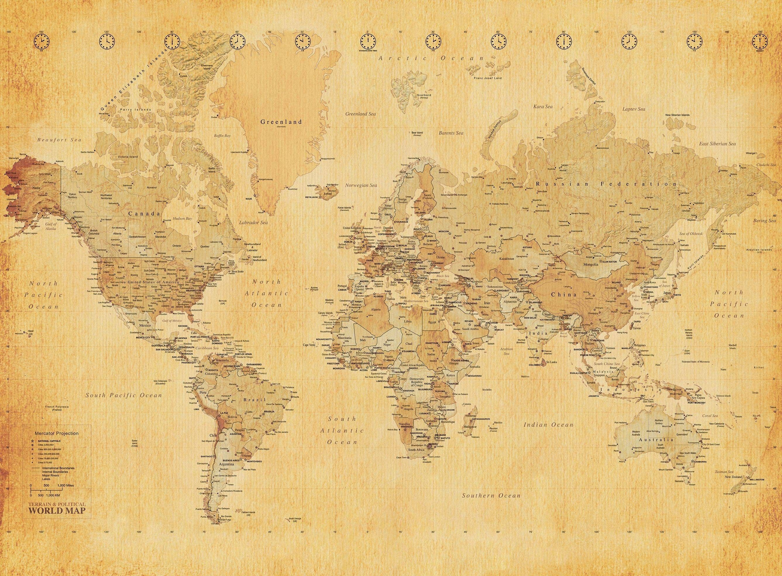 Background Old World Map Wallpaper