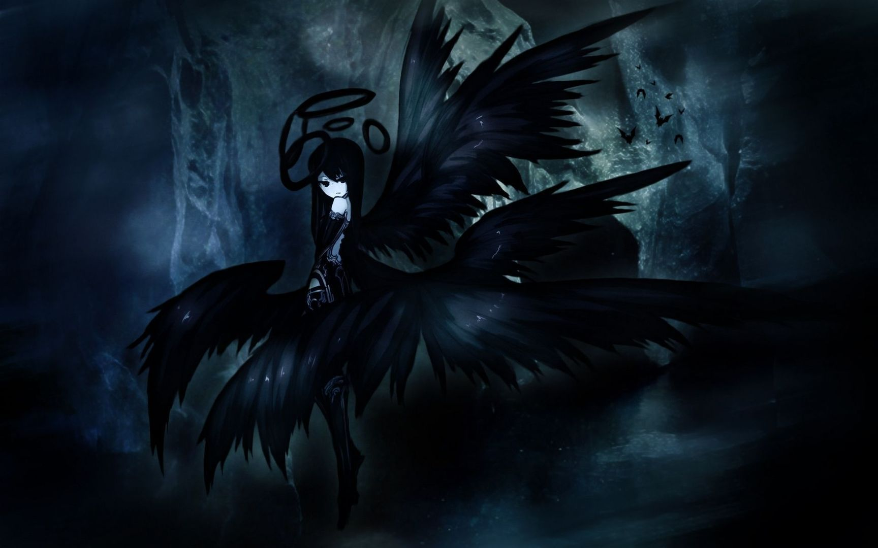 Awesome Dark Angel Anime Wallpapers Top Free Awesome Dark Angel
