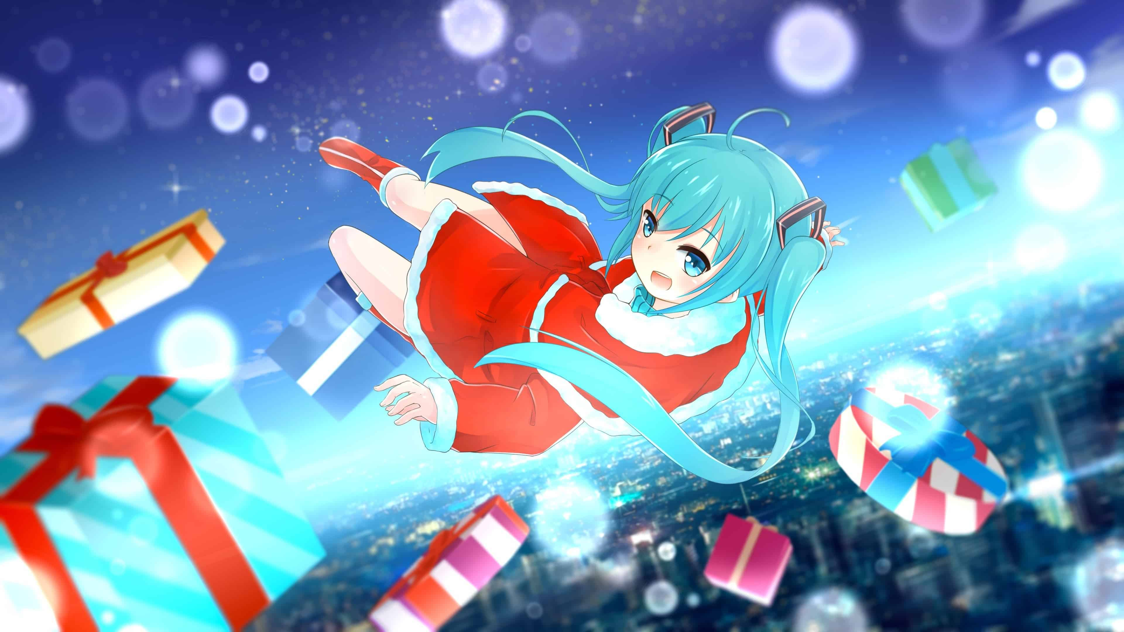 Christmas Anime.Miku Christmas Anime Wallpapers Top Free Miku Christmas