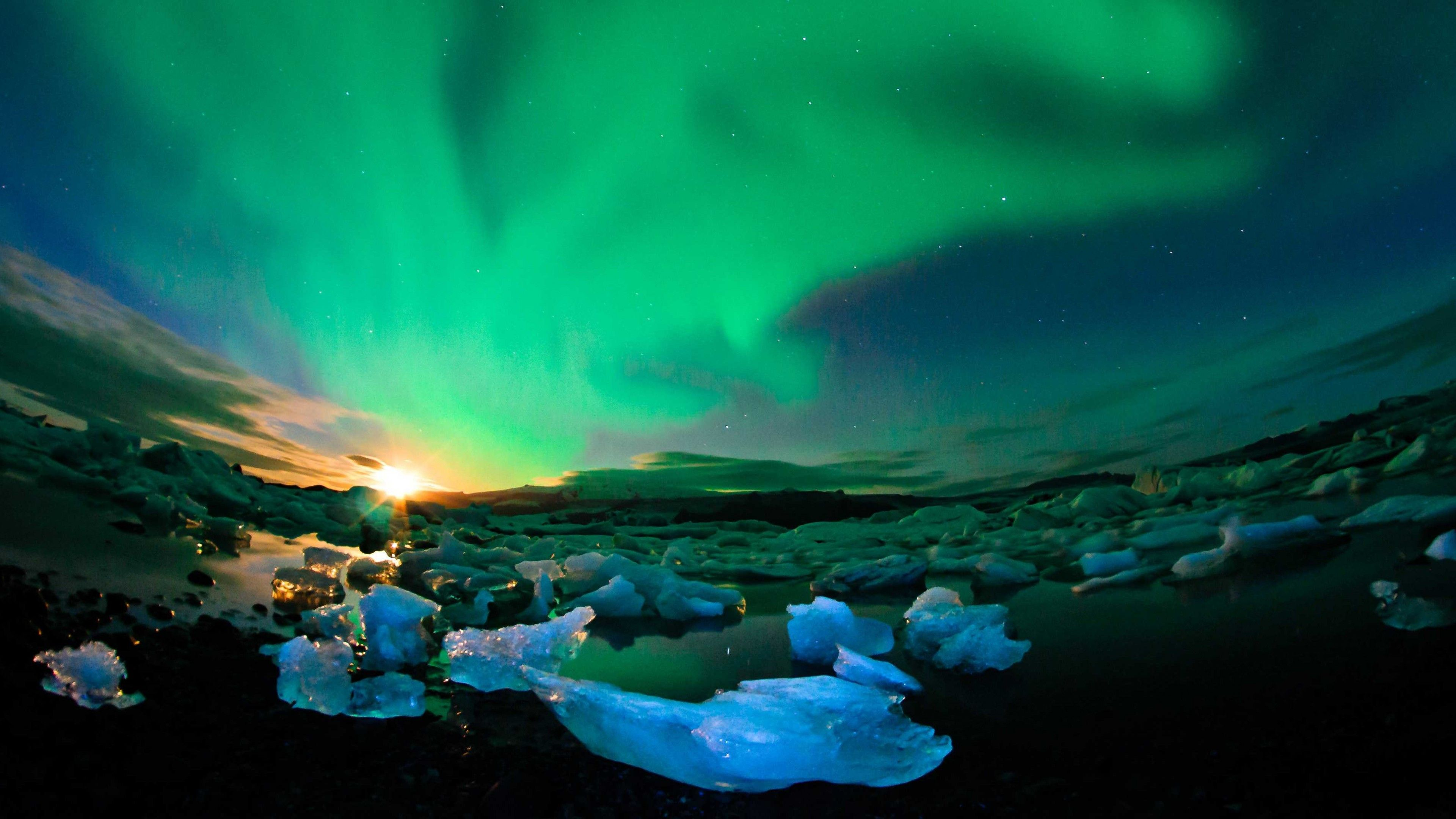 Northern Lights Mountains 4k Wallpapers Top Free Northern