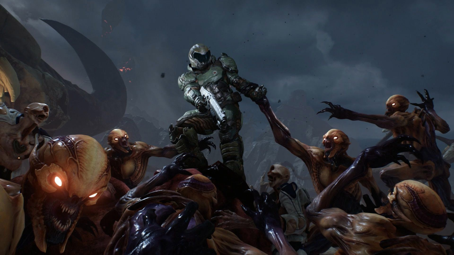 7680 Doom Slayer Wallpapers Top Free 7680 Doom Slayer Backgrounds Wallpaperaccess