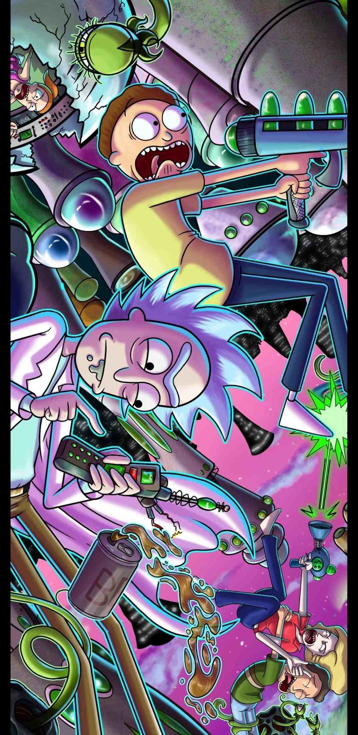 Rick And Morty Trippy Phone Wallpapers Top Free Rick And Morty