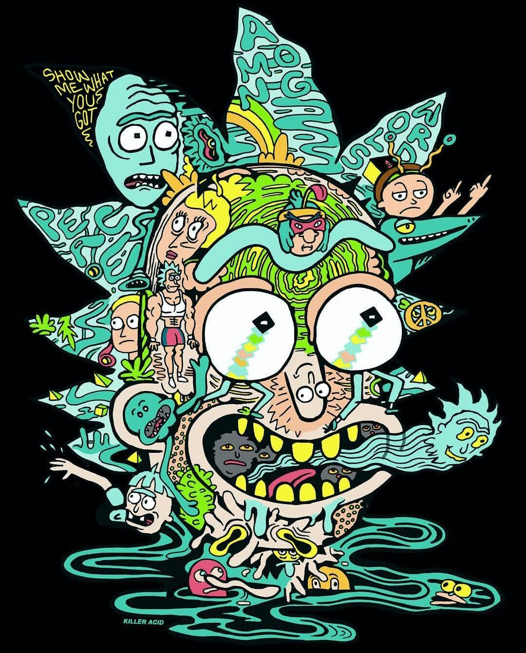 Rick And Morty Trippy Spaceship Wallpapers Top Free Rick And