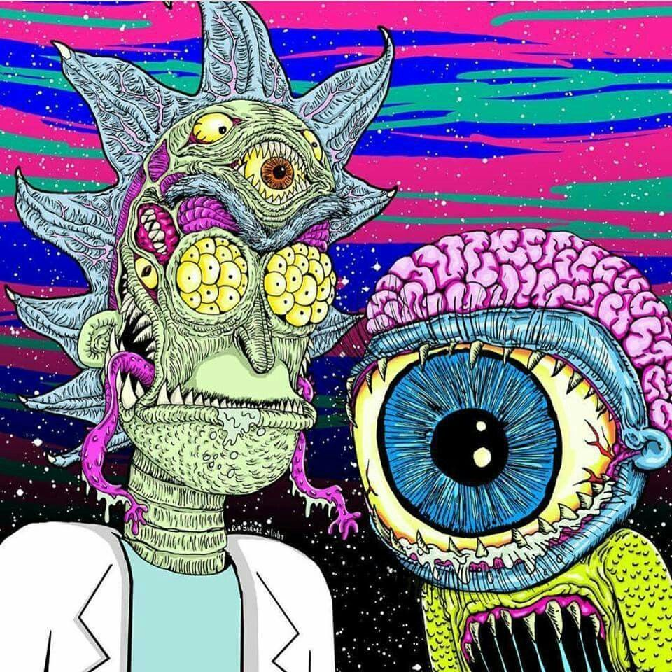 Rick And Morty Trippy Acid Wallpapers Top Free Rick And Morty