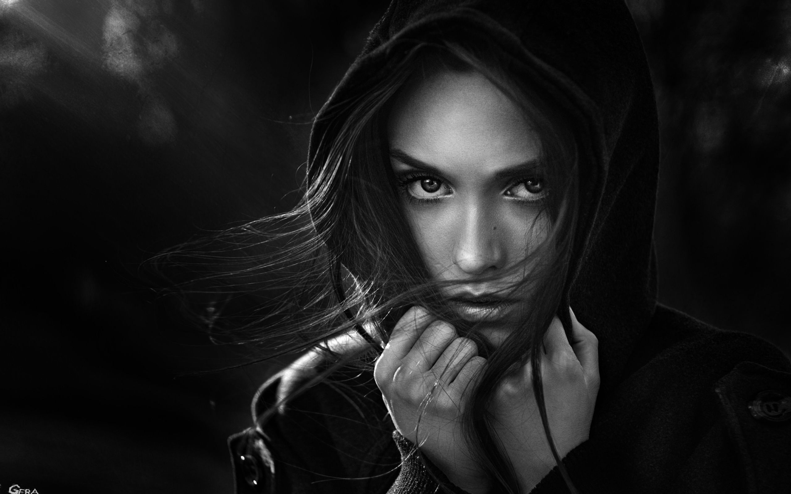 Female Black And White Wallpapers Top Free Female Black