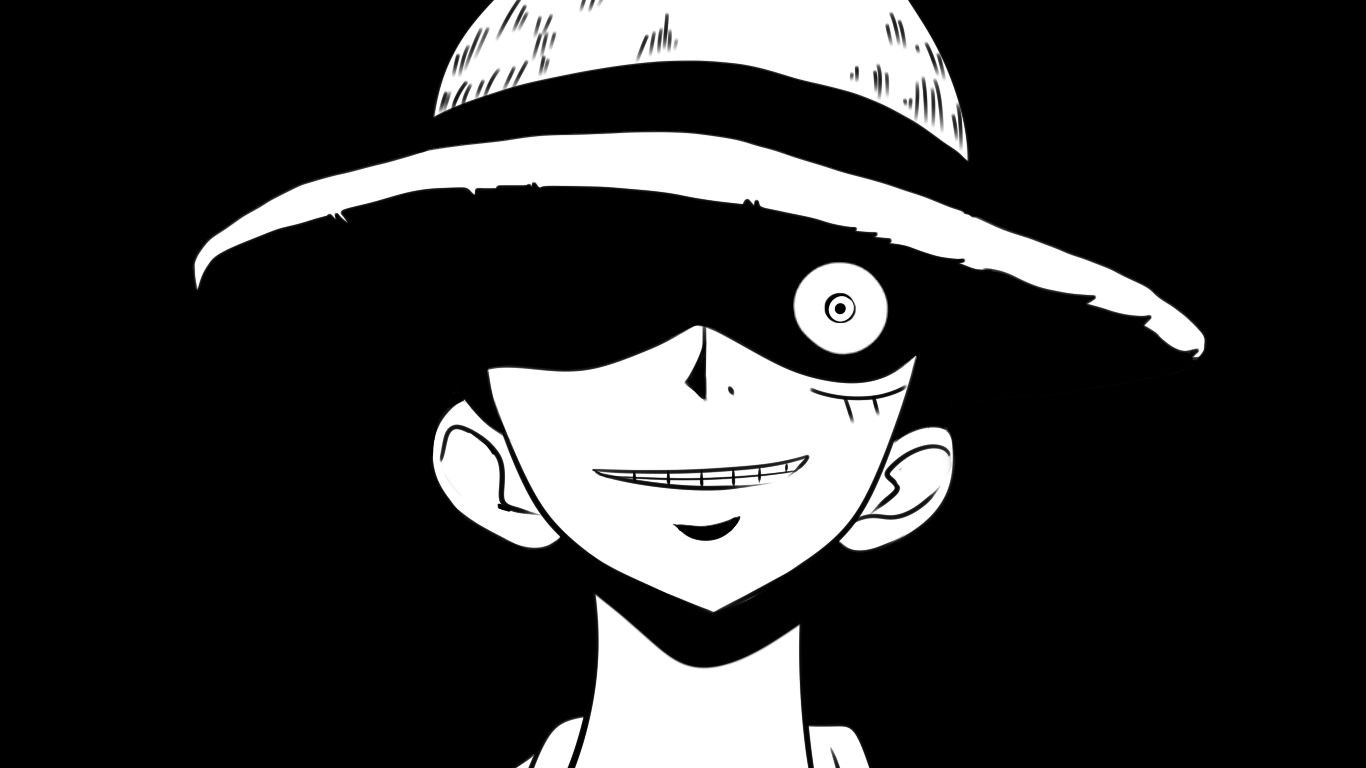 Luffy Black And White Wallpapers Top Free Luffy Black And White