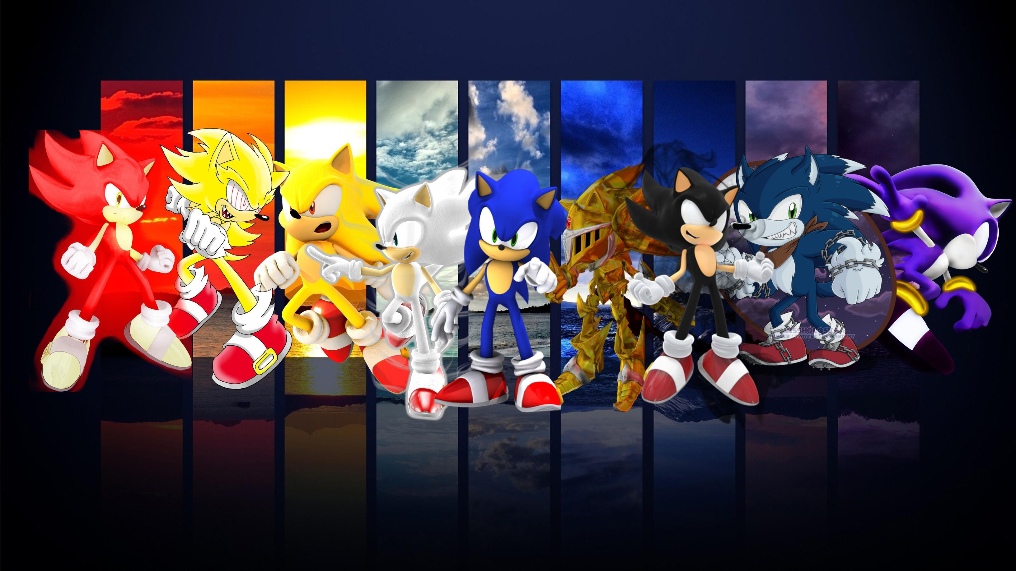 Sonic All Forms Wallpapers Top Free Sonic All Forms Backgrounds