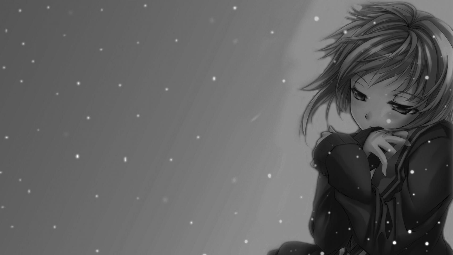 Grayscale Anime Wallpapers Top Free Grayscale Anime Backgrounds Wallpaperaccess