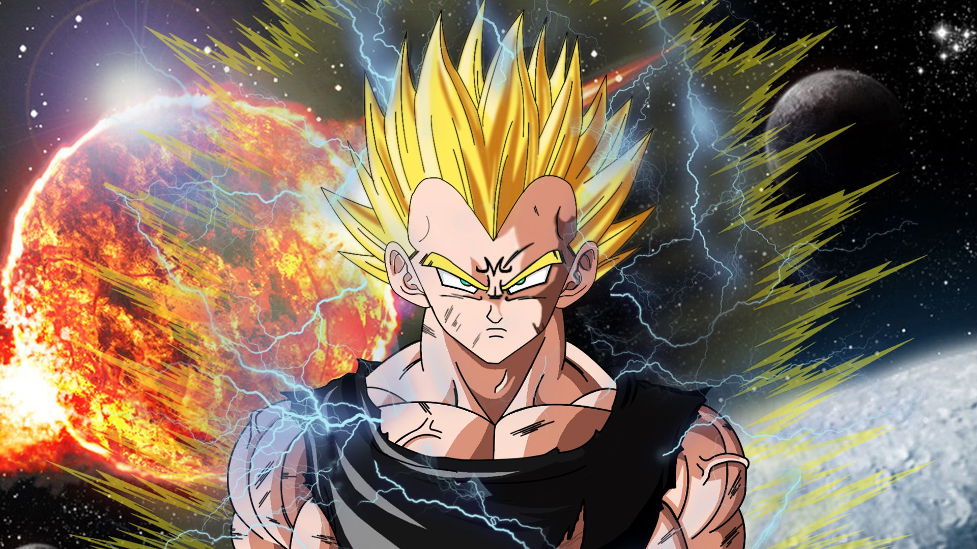 Majin Vegeta Wallpaper 4k