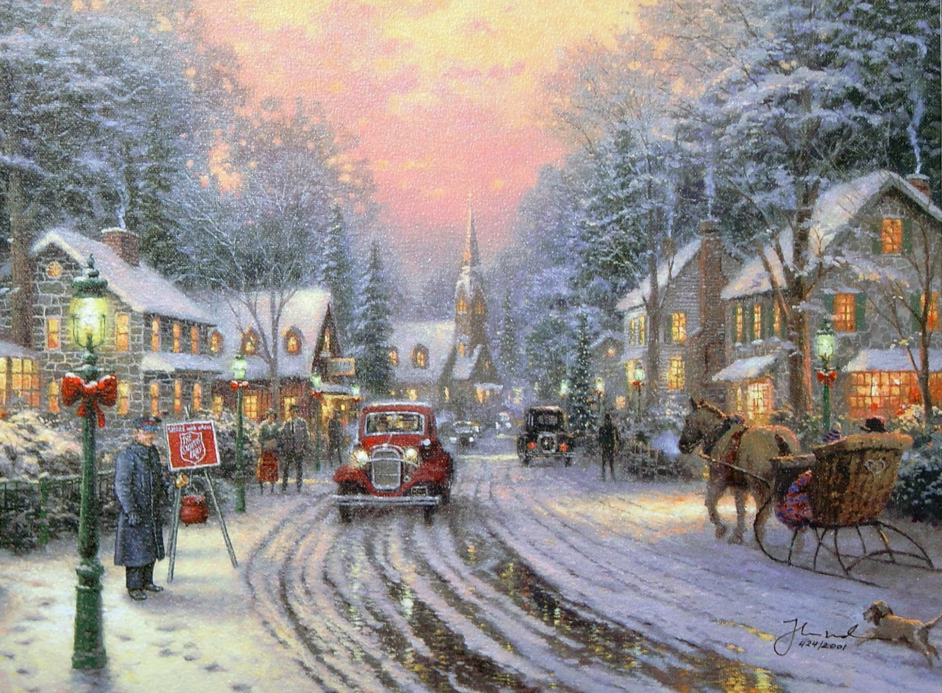 Thomas Kinkade Nativity Wallpapers Top Free Thomas Kinkade Nativity Backgrounds Wallpaperaccess