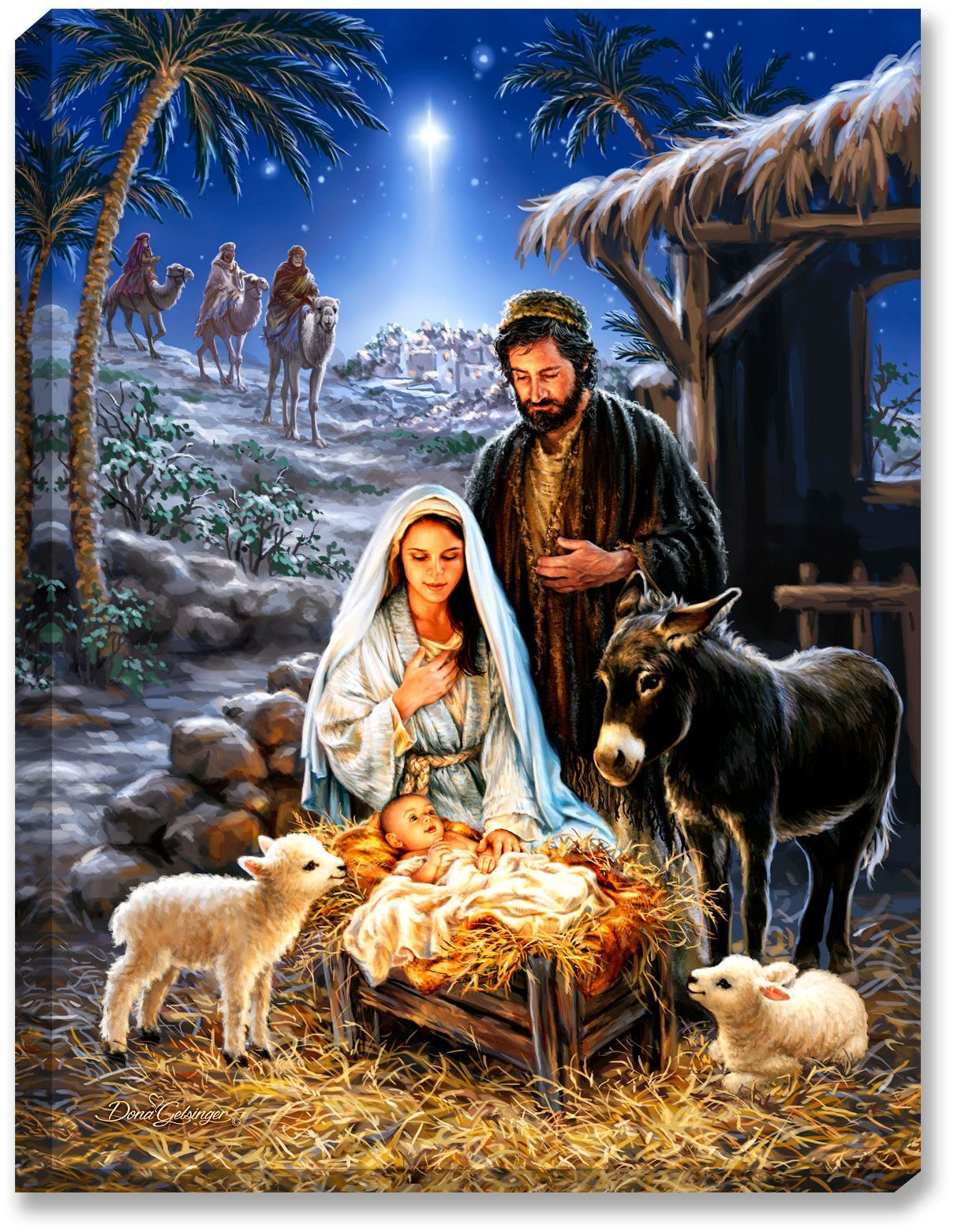Vintage Nativity Christmas Christian Wallpapers - Top Free ...