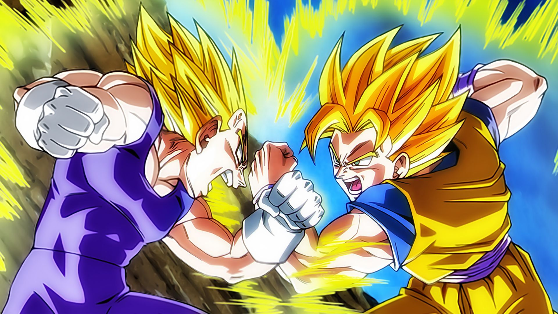 Goku Vs Vegeta Wallpapers Top Free Goku Vs Vegeta Backgrounds Wallpaperaccess