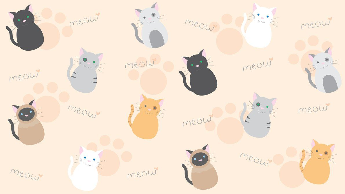 aesthetic cat laptop wallpapers