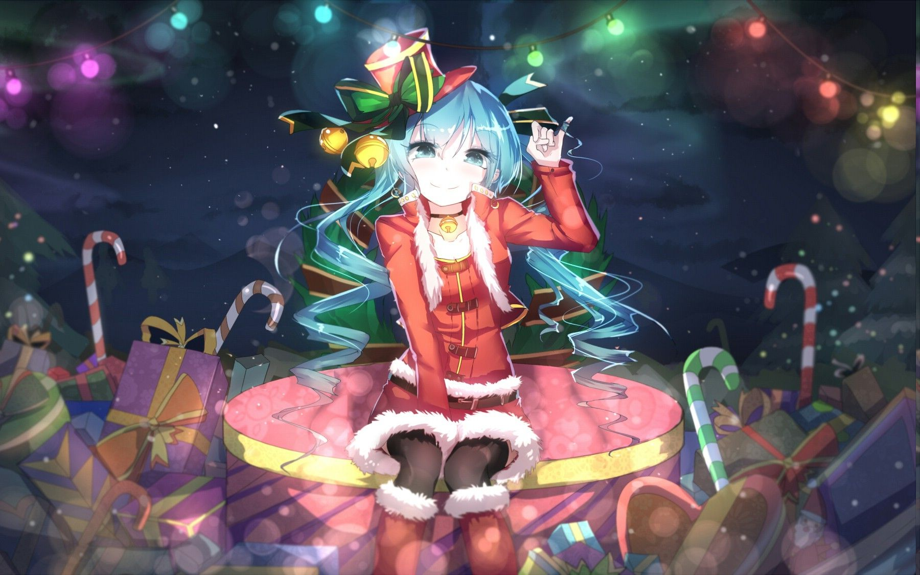 Christmas Hatsune Miku.Miku Christmas Anime Wallpapers Top Free Miku Christmas