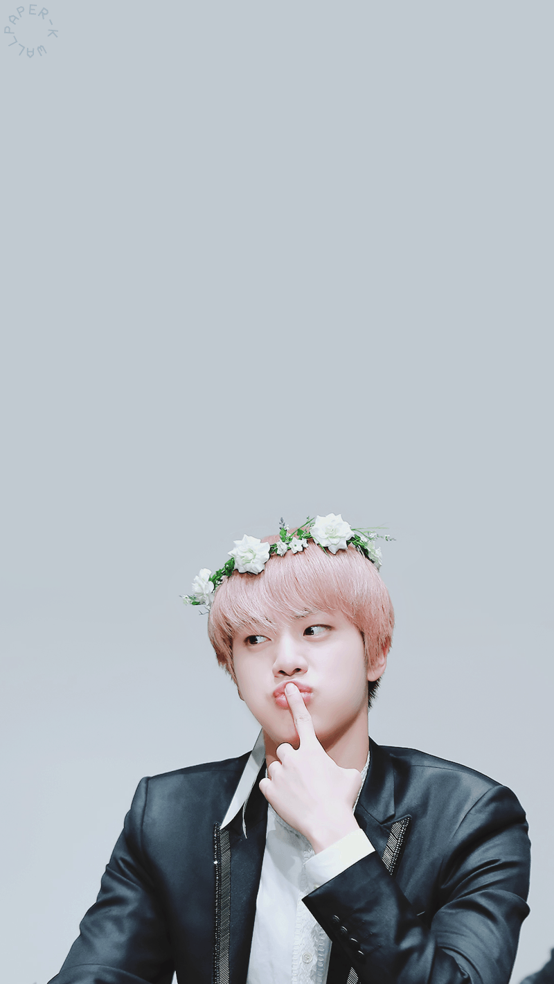 Jin Bts Cute Wallpapers Top Free Jin Bts Cute Backgrounds Wallpaperaccess