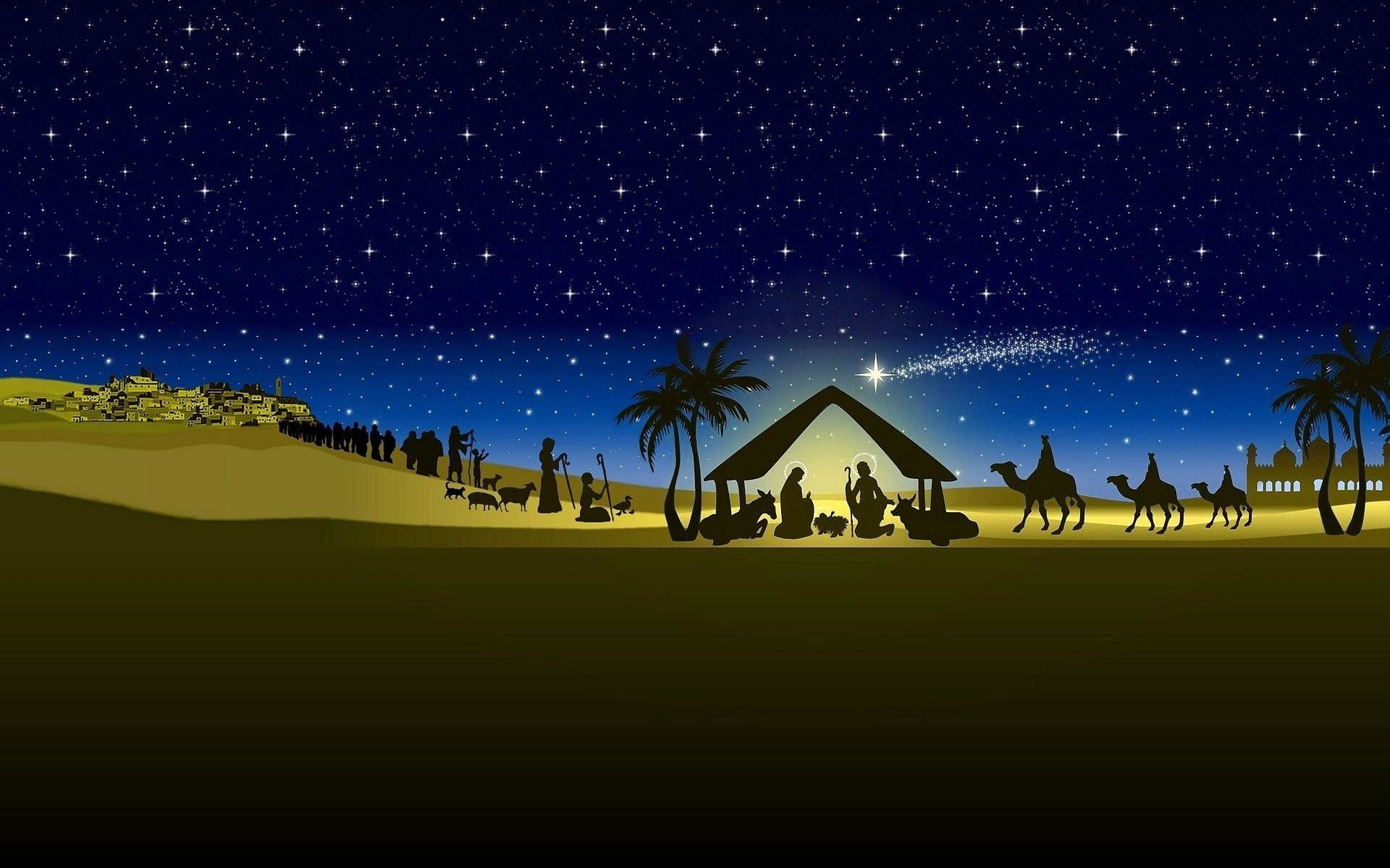 christmas nativity wallpapers