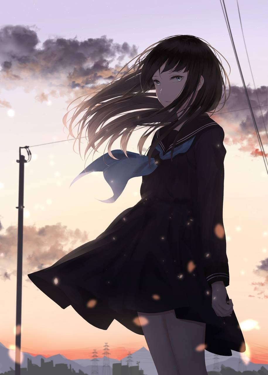 Sad Anime Girl Wallpapers Top Free Sad Anime Girl Backgrounds Wallpaperaccess