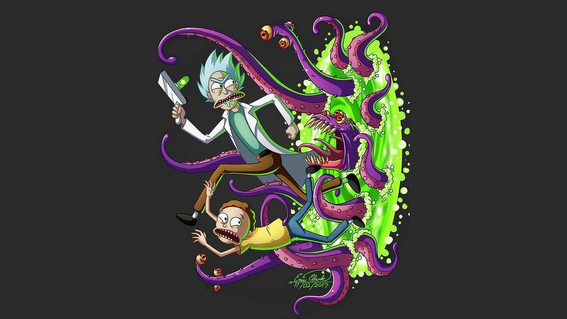 Rick And Morty Trippy Computer Wallpapers Top Free Rick And