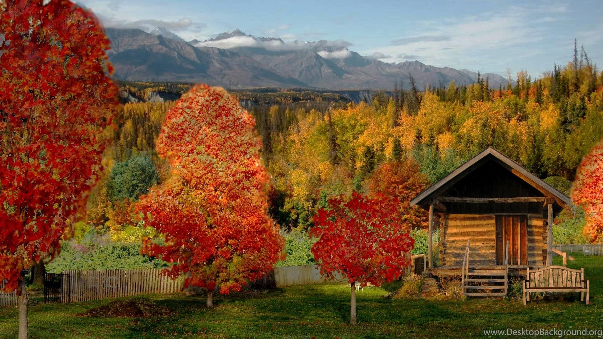 Beautiful Fall Cabin Desktop Wallpapers Top Free Beautiful Fall Cabin Desktop Backgrounds Wallpaperaccess