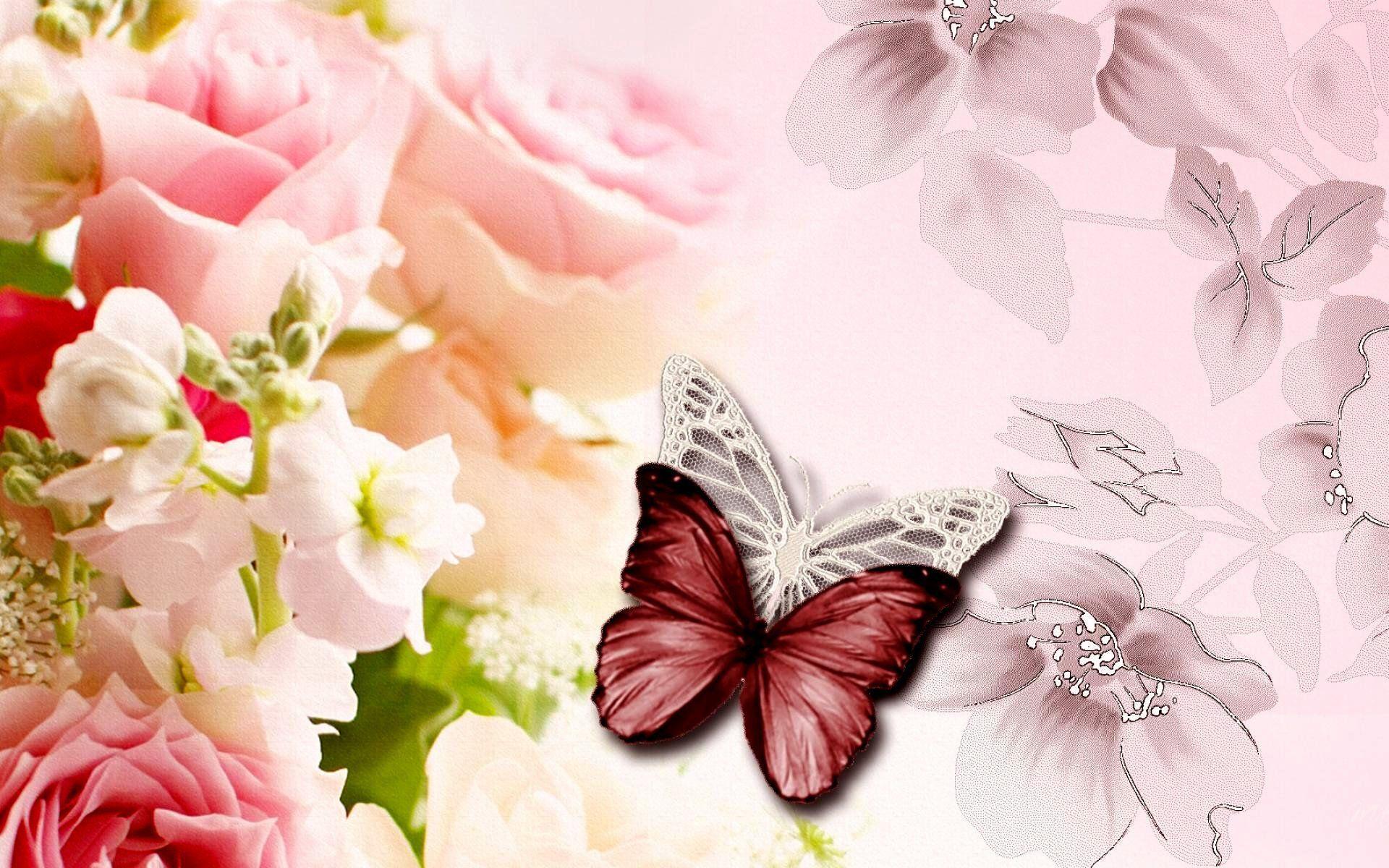 Pastel Flowers Butterflies Wallpapers Top Free Pastel Flowers Butterflies Backgrounds Wallpaperaccess