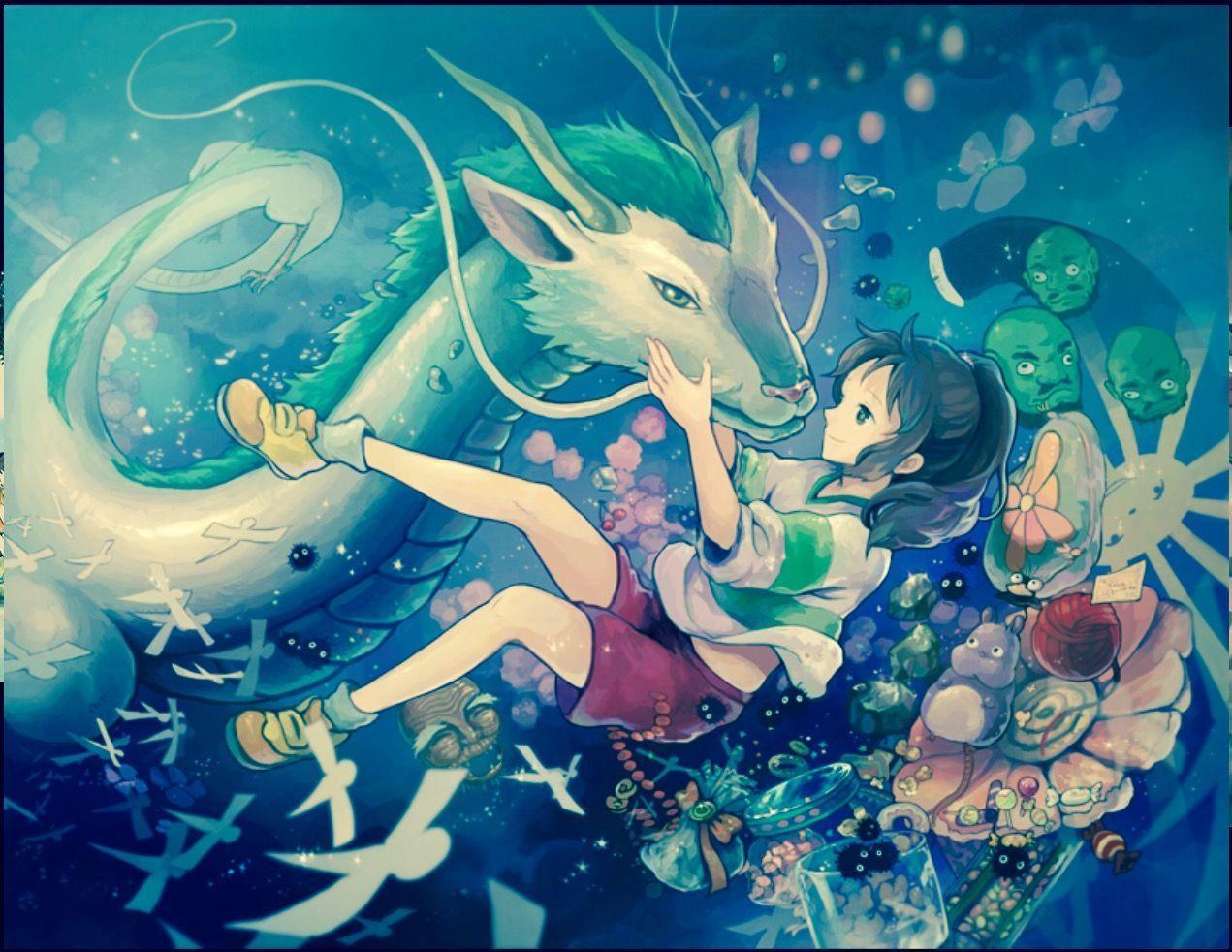 Haku Spirited Away Wallpapers Top Free Haku Spirited Away Backgrounds Wallpaperaccess