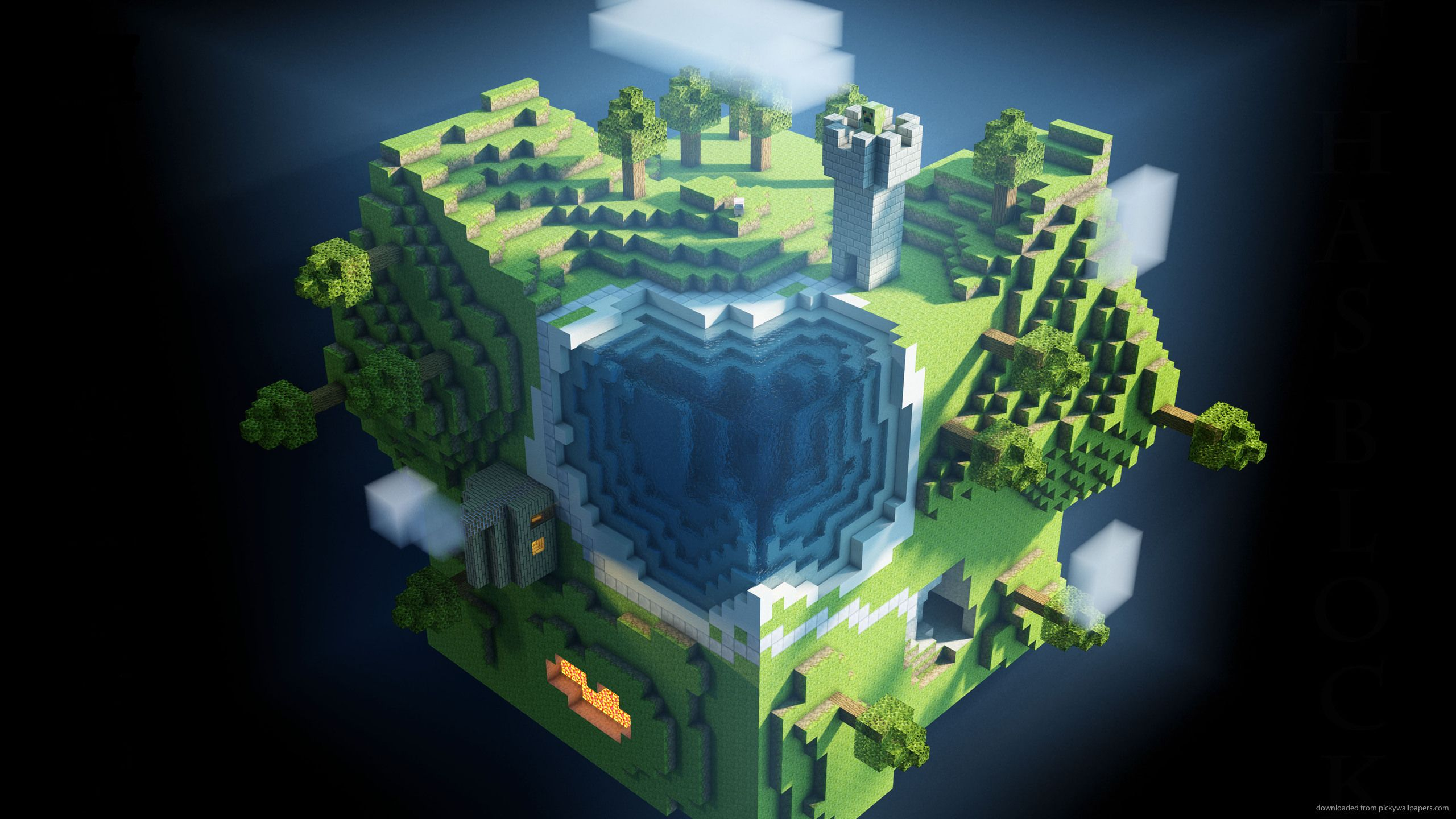 2560 X 1440 Minecraft Wallpapers Top Free 2560 X 1440