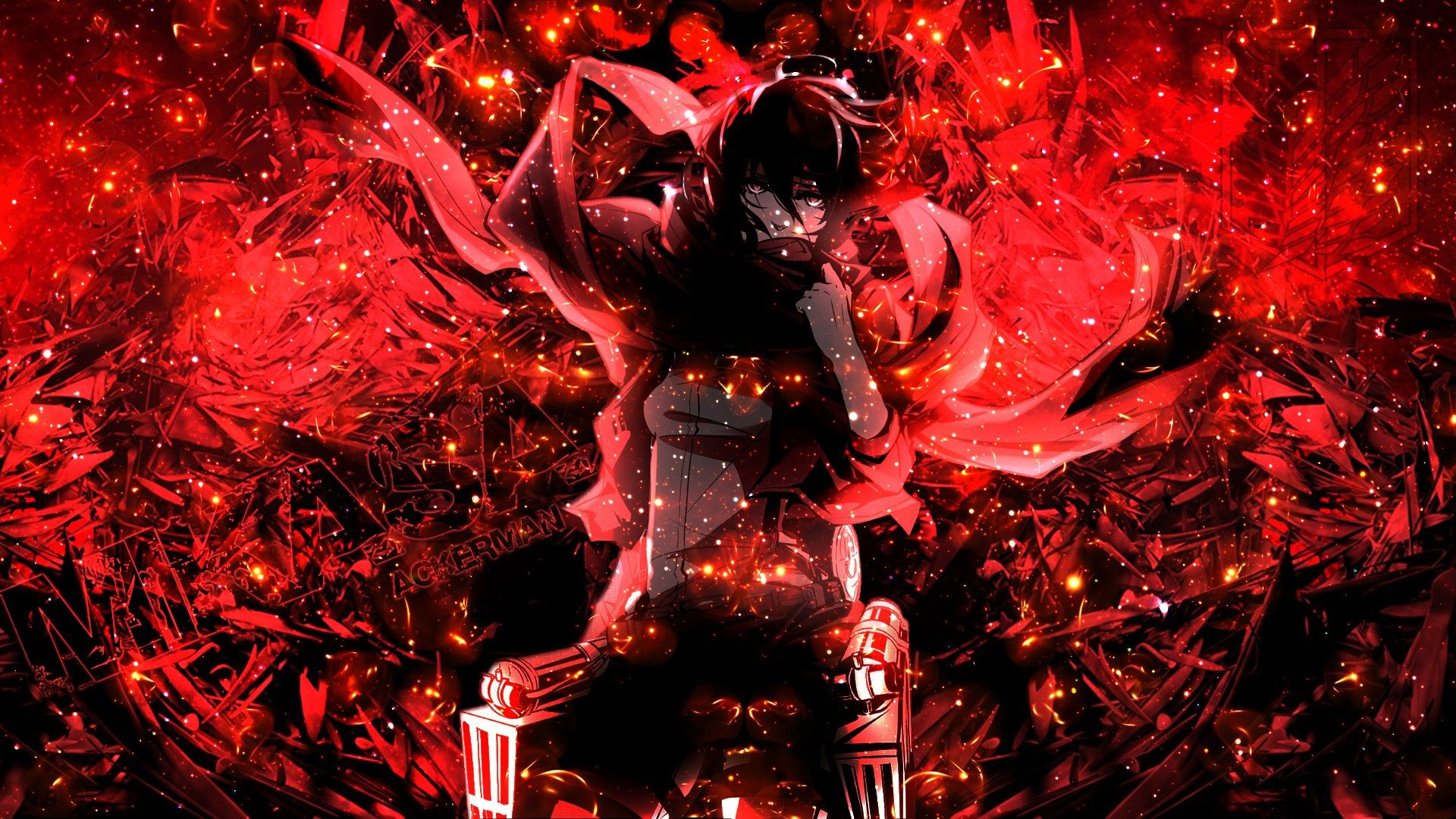 Attack On Titan Christmas Wallpapers Top Free Attack On Titan Christmas Backgrounds Wallpaperaccess