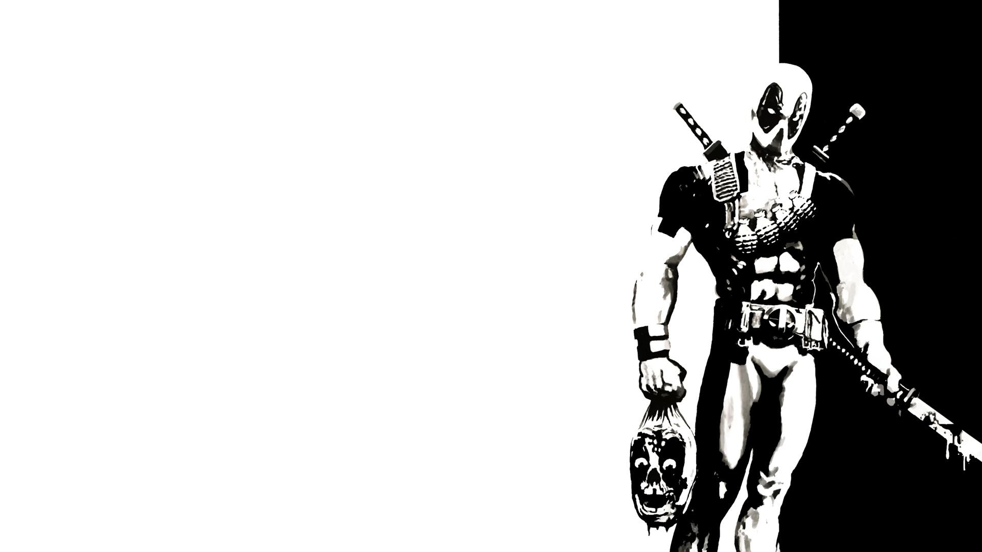 Deadpool Black And White Wallpapers Top Free Deadpool Black And White Backgrounds Wallpaperaccess