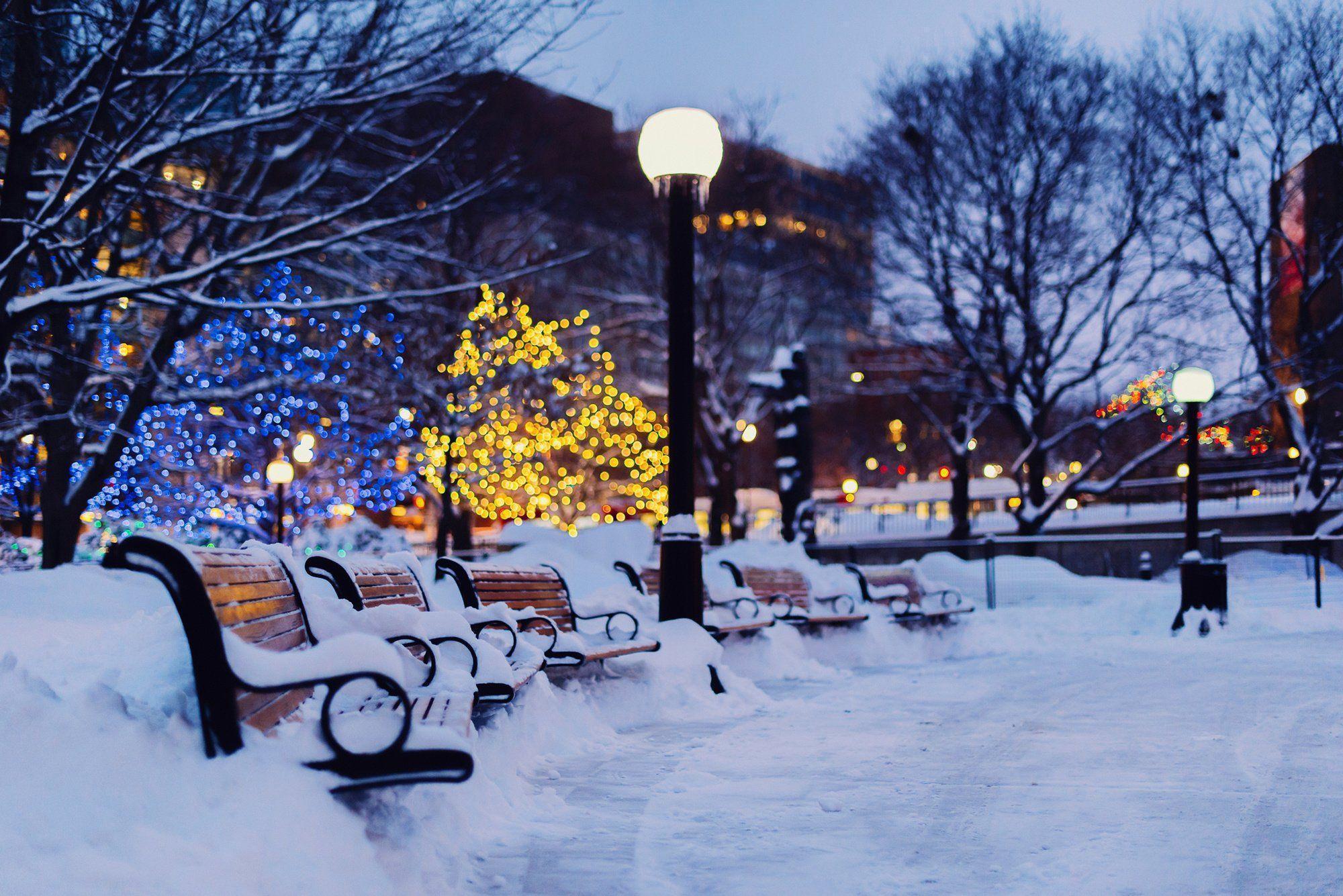 Обои snow, winter. Города foto 9