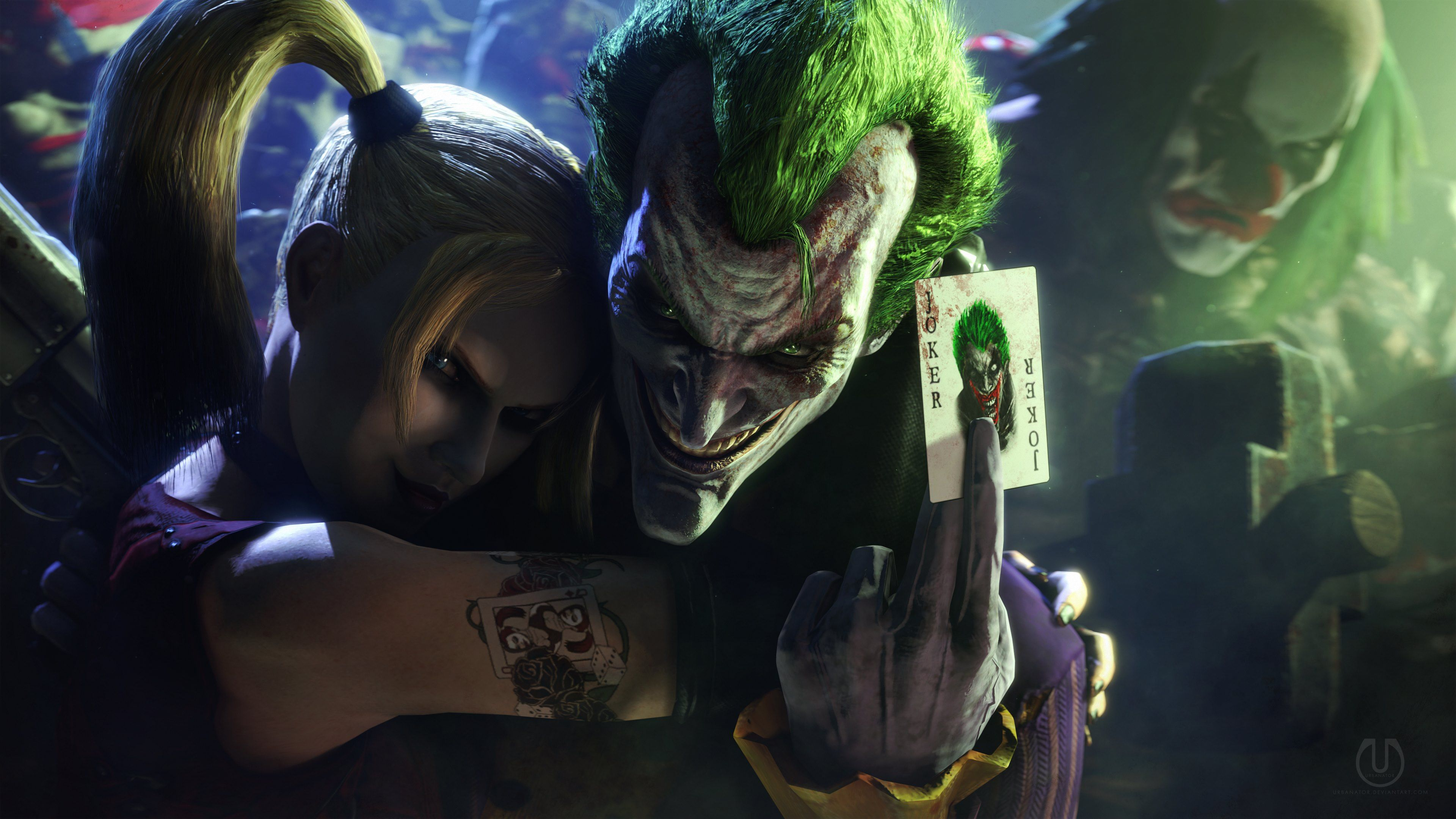 Joker And Harley Quinn Injustice Wallpapers Top Free Joker And