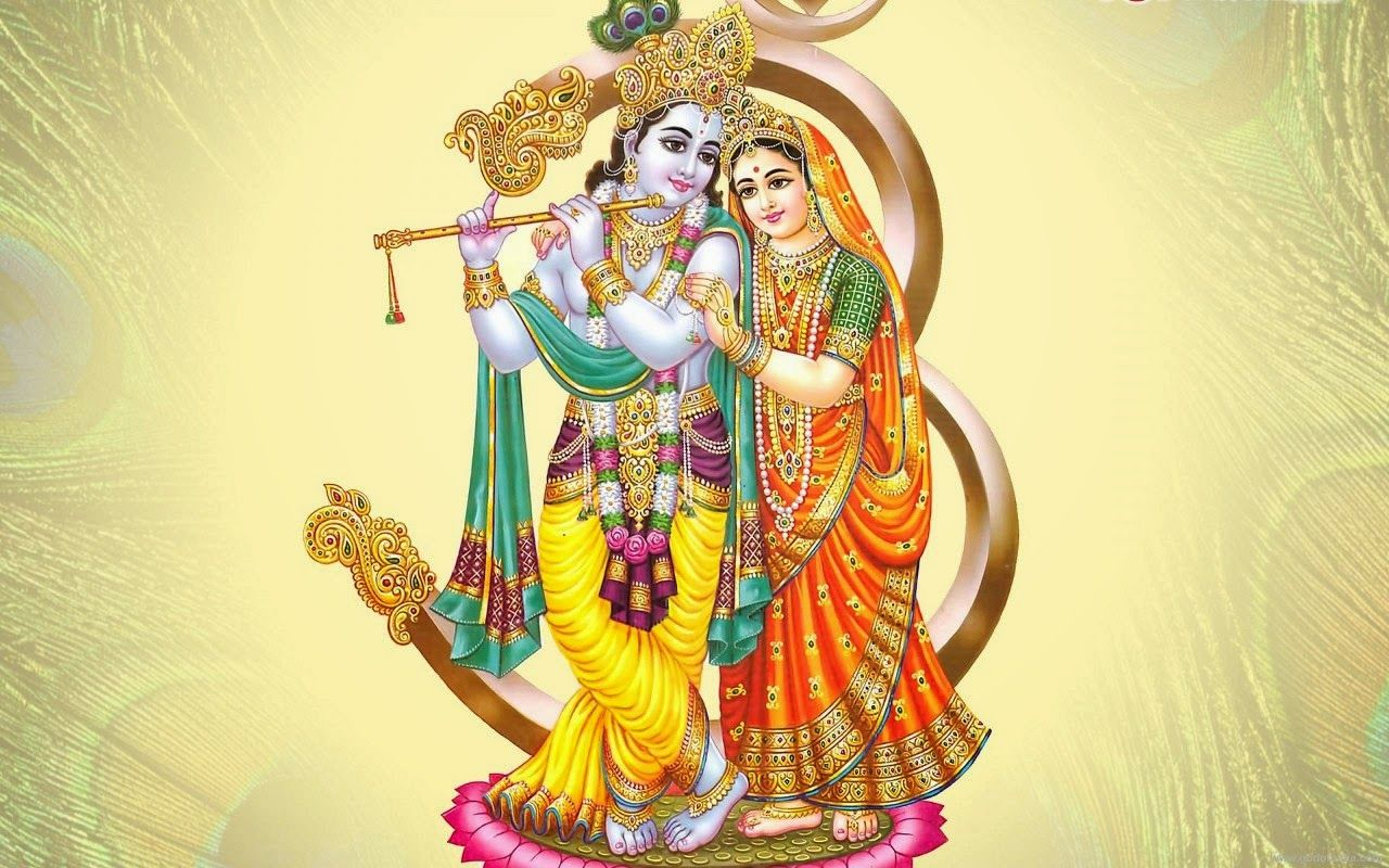 1280x800 Radha Krishna